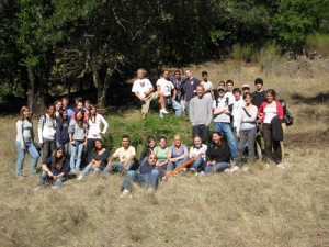 Terra Linda High School students on the Mt. Tam watershed