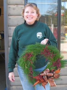 Holiday Volunteer Event Wreath-making