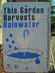 Rainwater Harvesting Sign