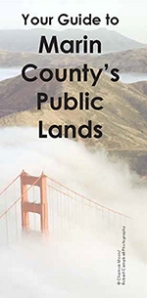 Front page of map of Marin County's public lands