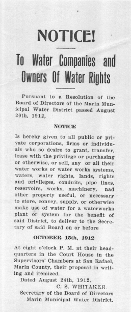 1912 Notice to Water Owners