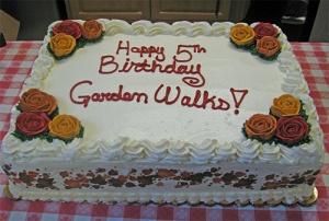 Garden Walk birthday cake