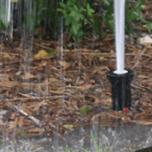 Missing sprinkler nozzle