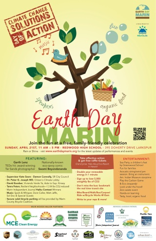 Earth Day Marin poster
