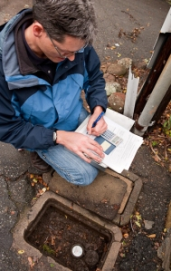 using the water meter to calculate water use