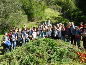Students volunteers on the Mt. Tamalpais Watershed