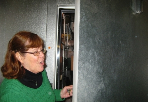Photo of walk-in freezer.