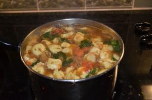 Bubbling Tortellini Soup
