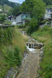 Water drainage through town of Gersau
